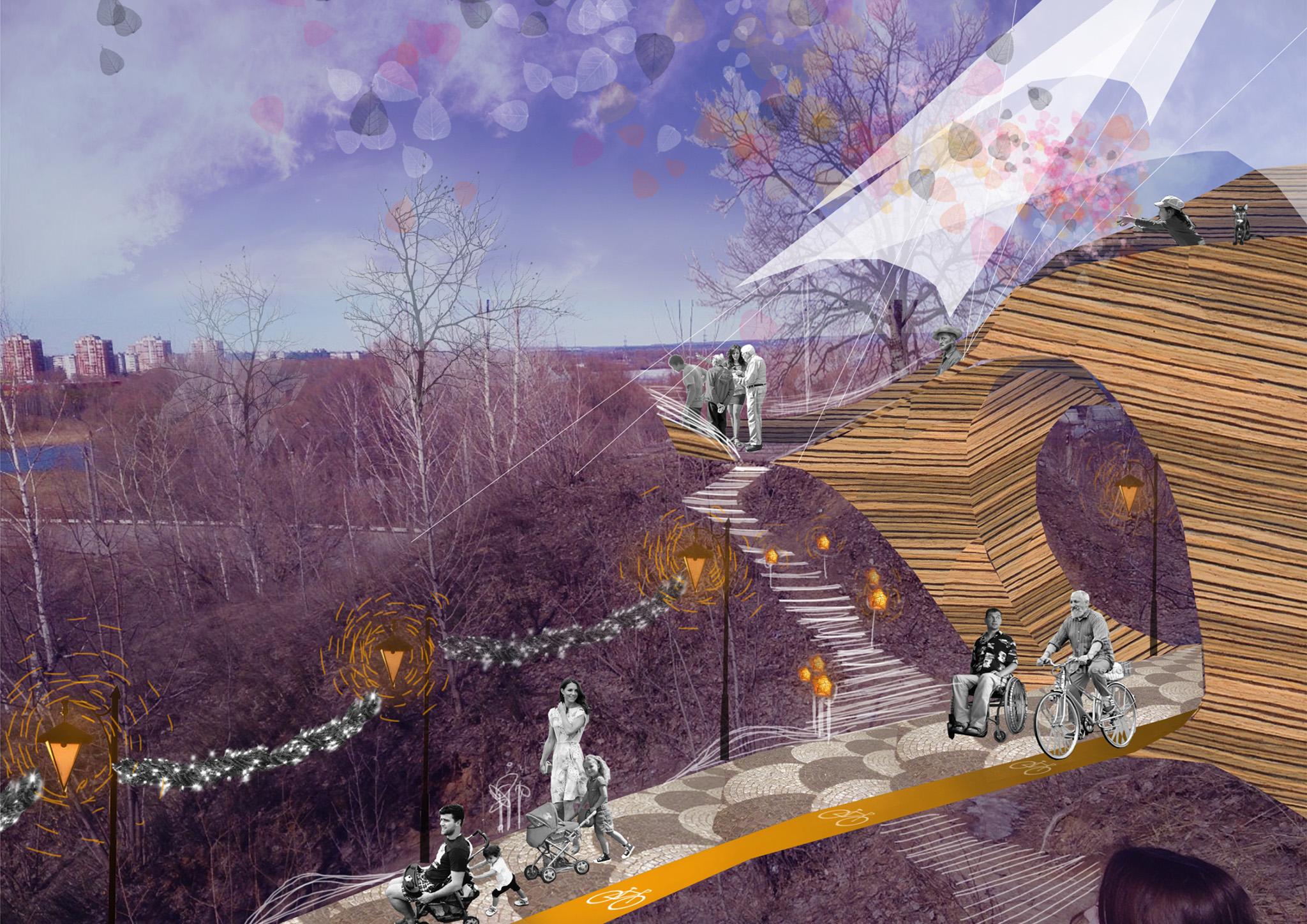 парк проект благоустройство территории импрессионизм