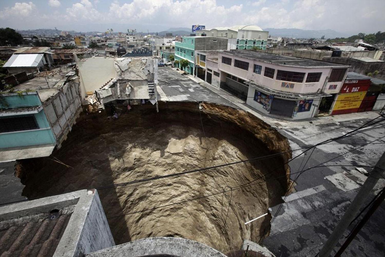 микокарст самовосстанавливающиеся материалы город карстовая воронка архитектура